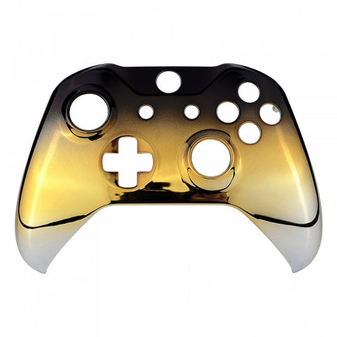 Xbox One Chrome Gold & Black Fade Wireless Controller Front Shell - DevineCustomz