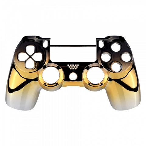 PS4 Controller Front Shell - Gold & Black Fade - DevineCustomz customized controllers repairs parts