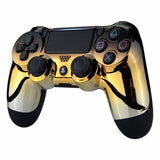PS4 controller - Gold & Black Fade - DevineCustomz customized controllers repairs parts