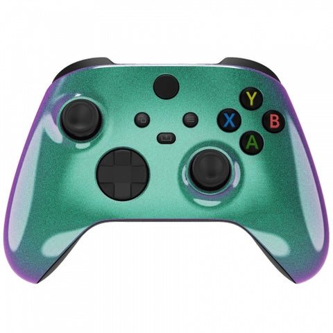Customised Xbox One Series X / S Chameleon Green & Purple Wireless Controller - DevineCustomz