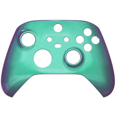 Customised Xbox One Series X / S Chameleon Green & Purple Front Shell - DevineCustomz