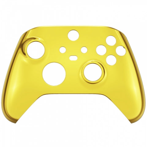 Customised Xbox One Series X / S Chrome Gold Front Shell - DevineCustomz