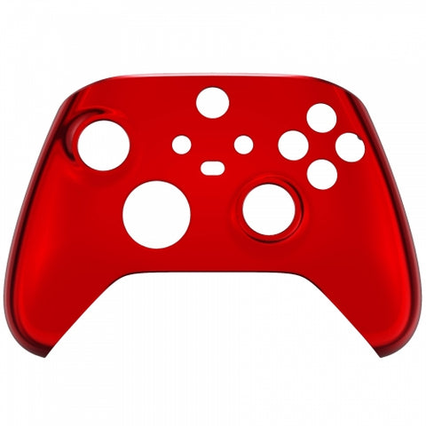 Customised Xbox One Series X / S Chrome Red Front Shell - DevineCustomz