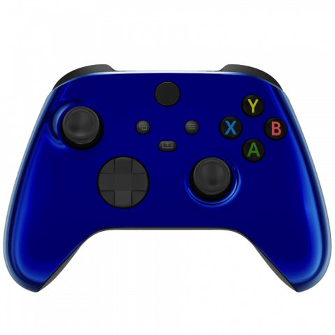 Customised Xbox One Series X / S Chrome Blue Wireless Controller - DevineCustomz