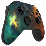 Customised Xbox One Series X / S Green & Orange Galaxy Wireless Controller - DevineCustomz