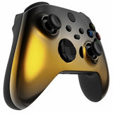 Customised Xbox One Series X / S Black & Gold Fade Front Shell