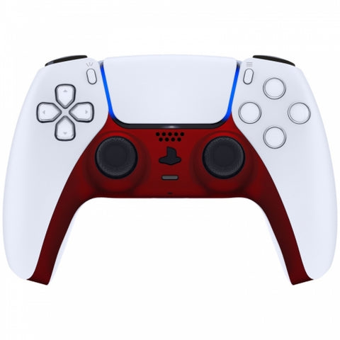 PS5 Custom Replacement Controller Trim Faceplate - Soft Touch Vampire Red