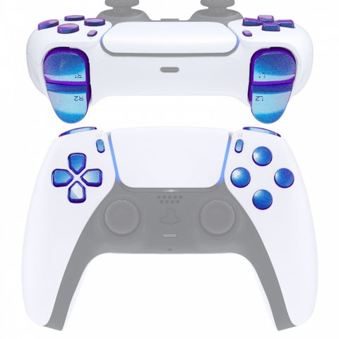 PS5 Next Gen Controller Chameleon Blue & Purple Full Buttons Set