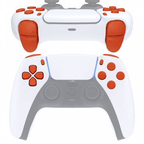 PS5 Next Gen Controller Matt Orange Full Buttons Set
