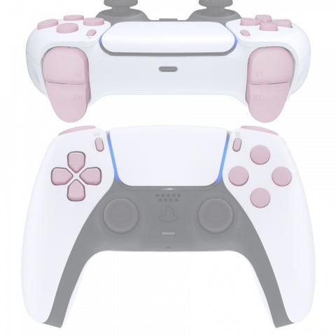 PS5 Next Gen Controller Matt Baby Pink Full Buttons Set