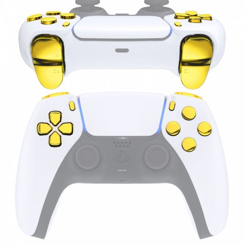 PS5 Next Gen Controller Chrome Gold Full Buttons Set