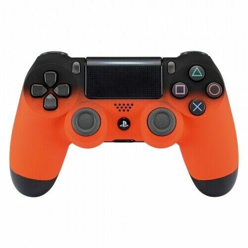 PS4 controller - Orange Shadow - DevineCustomz customized controllers repairs parts