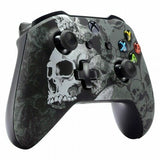 Xbox One Custom Black & White Skull Wireless Controller Front Shell - DevineCustomz customized controllers repairs parts