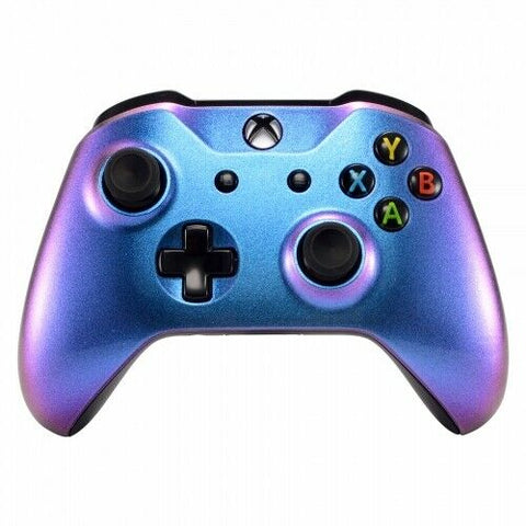 Xbox One Controller Two Colour Chameleon Purple & Blue Front Shell - DevineCustomz customized controllers repairs parts