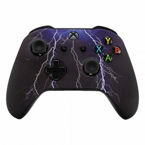 Xbox One Lightning Storm Wireless Controller Front Shell - DevineCustomz customized controllers repairs parts