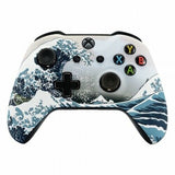 Xbox One Custom White & Blue Sea Waves Wireless Controller Front Shell - DevineCustomz