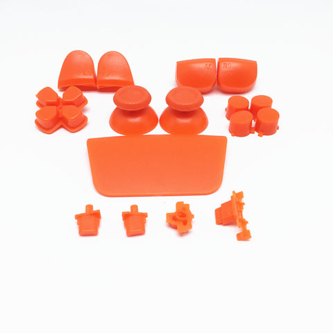 PS5 Next Gen Controller Plain Orange Full Buttons Set