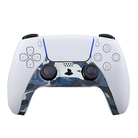 PS5 Custom Replacement Controller Trim Faceplate - Blue Camo