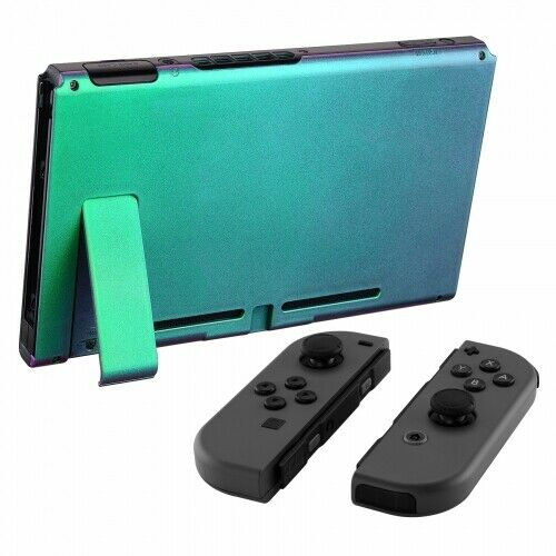 Nintendo Switch Custom Backplate With Stand -Chameleon Green & Purple - DevineCustomz customized controllers repairs parts