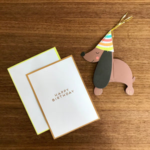 Honeycomb Dachshund Card