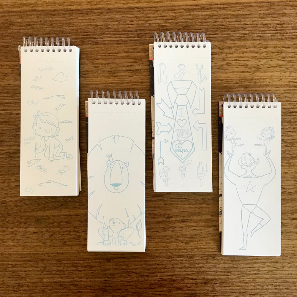 Colouring Bookmarks, Father's Day