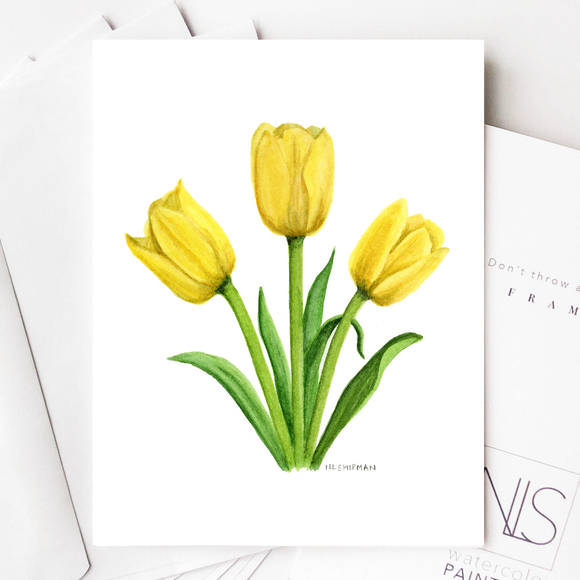 Yellow Tulip Card