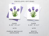 Purple Tulip Card