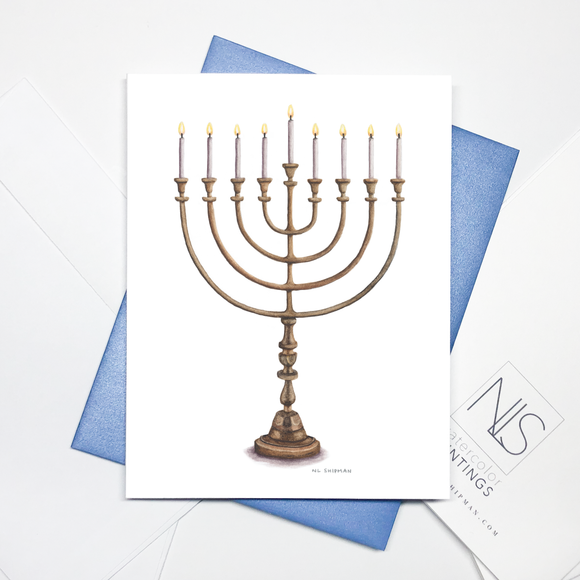 Menorah Card