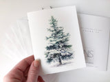 Evergreen Tree Card