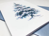 Blue Spruce Tree Card