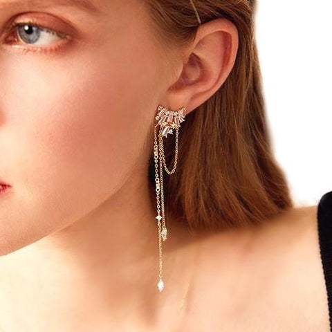 The Constellations Collection of unique gold and crystal earrings from Sol-de-Miel Everyday Fine Jewelry