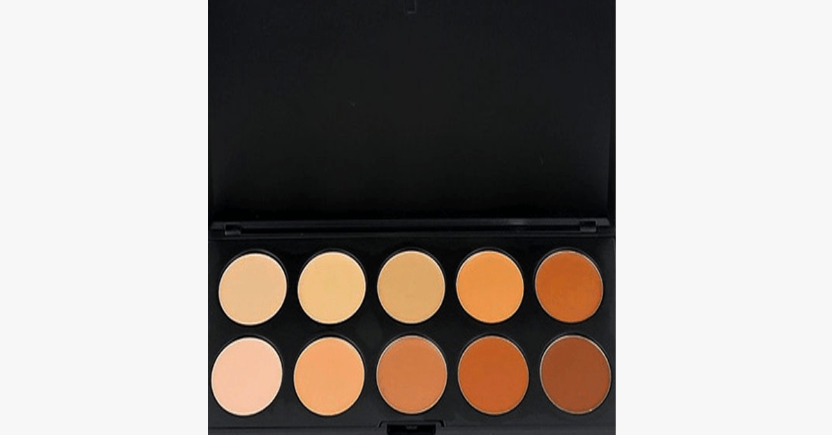 10 Color Concealer Palette - Magically Conceals all Your Blemishes and Dark Circles to Give You That Flawless Look!