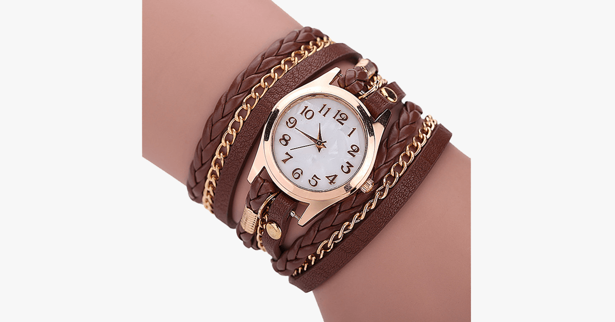 Gold Dial Quartz Watch with Funky Wraps – Made To Hit Your Casual Look Day