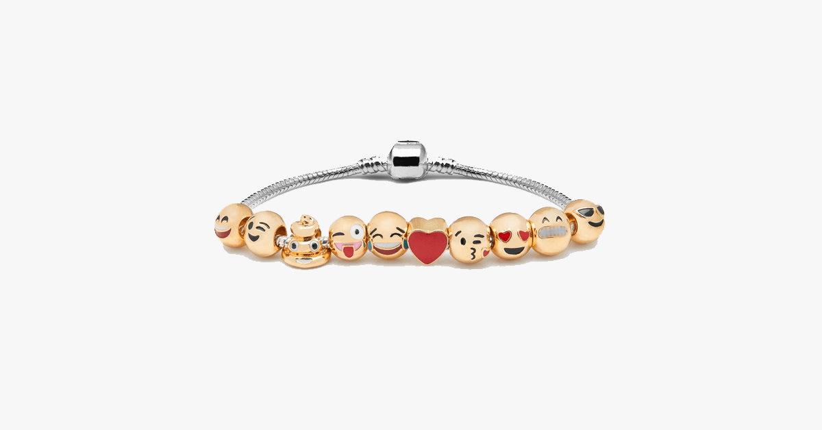 Emoticon Bracelet - Expressive Charm Bracelet for Your Quirky Looks