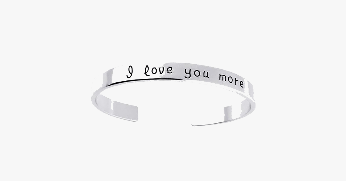 I Love You More Cuff Bangles for Any Occasion