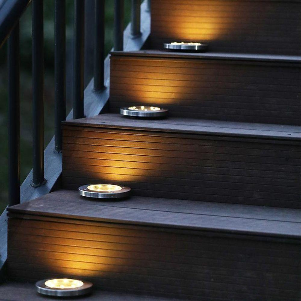 LED Solar Powered In-Ground Lawn Lights