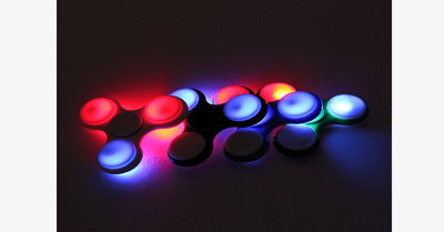 Fidget Spinner with LED – Let's Spin!