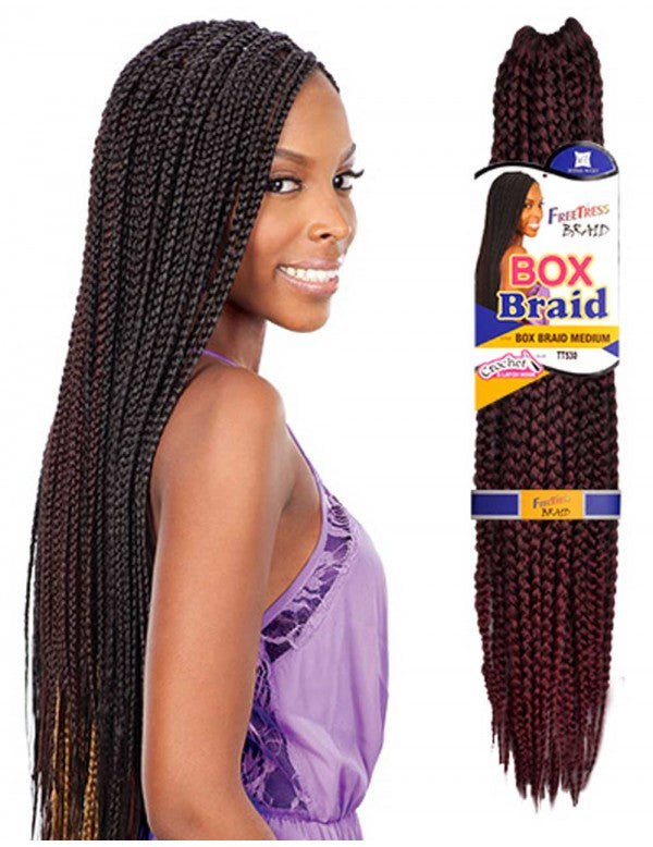 Freetress Synthetic Crochet Box Braid MEDIUM
