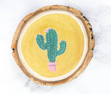 Load image into Gallery viewer, Cactus on Gold - Wood Cookie