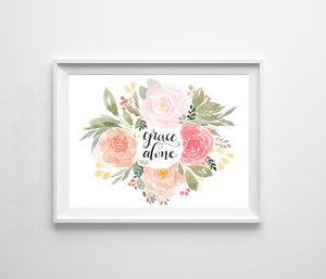 Grace Alone Floral Wreath
