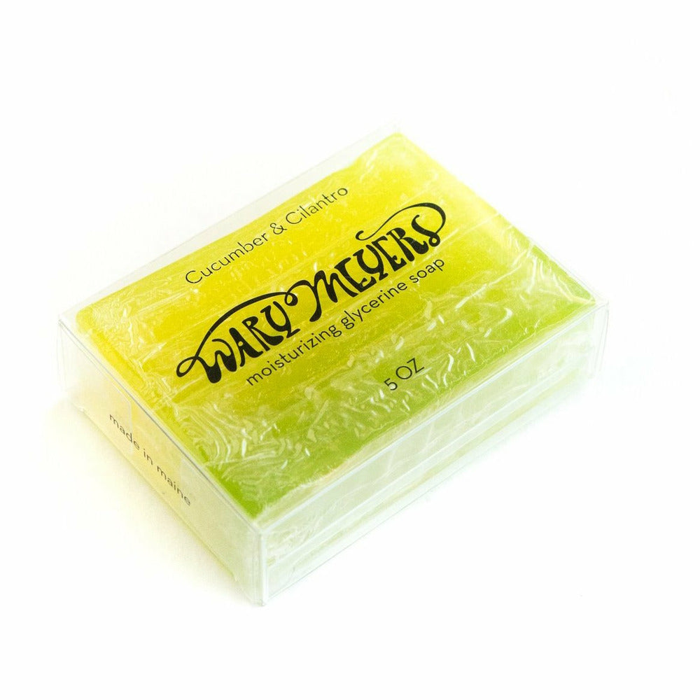 Wary Meyers Handmade Glycerine Soap Bars - 'Cucumber and Cilantro'