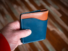 Load image into Gallery viewer, Ampersand Wallet - Buttero in Chestnut/Blue