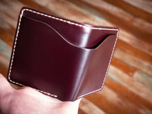 Load image into Gallery viewer, Ampersand Wallet - Horween Chromexcel in Burgundy