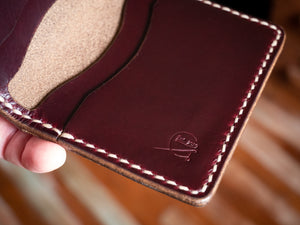 Ampersand Wallet - Horween Chromexcel in Burgundy