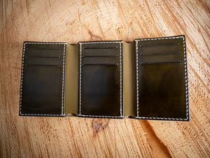 Tri-Fold Wallet - Wickett & Craig Harness in Olive Green