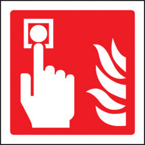 Fire Alarm Call Point  Available in Rigid Plastic and Self-Adhesive Vinyl  Sizes: 80x80mm, 100x100mm and 150x150mm
