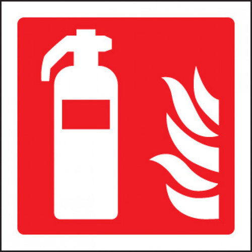 Fire Extinguisher Sign Panel  Available in Rigid Plastic and Self-Adhesive Vinyl  Sizes: 80x80mm, 100x100mm and 150x150mm