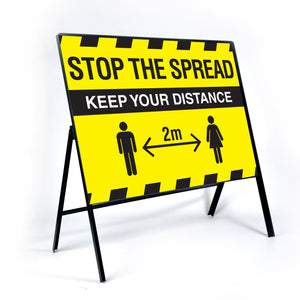 Stop the spread Large metal traffic frame. 1050x750mm metal traffic frame complete with sign panel  Product code: 60266