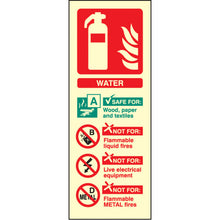 Load image into Gallery viewer, Water Extinguisher Identification Safety Sign