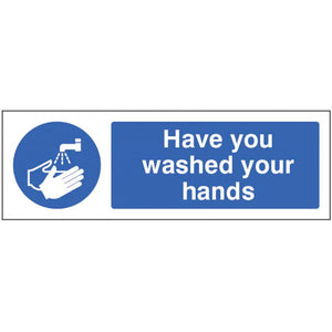 Have you washed your hands.. 600x200mm self-adhesive floor graphic  Product code: 54995